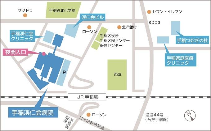 夜間入口地図